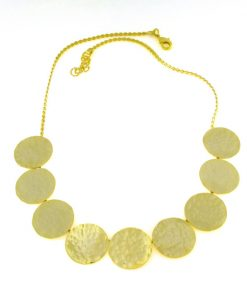 Necklace handmade from brass goldplated
