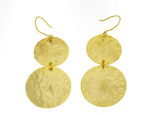 Earings gold plated from brass